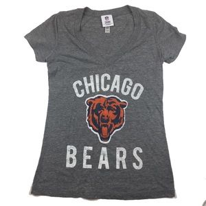 NFL Chicago Bears V Neck T Shirt Small